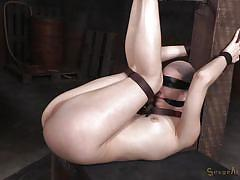 Hard fucking in creative bondage