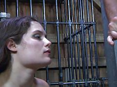 Caged, humiliated and fucked