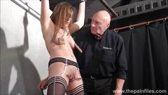 Teen slave taylor hearts nipple clamp punishment and pussy torments