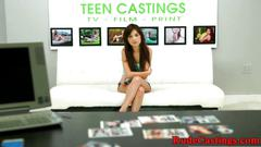 Casting teen roughfucked at sexaudition