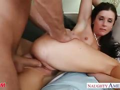 milf, f, brunette, doggystyle, cougar, mom, mother, james deen, india summer