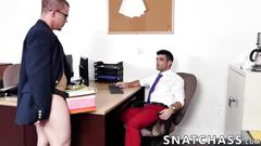 Hot hunks ramming each others assholes at the office