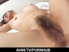 Dashing hardcore threesome along chihiro misaki