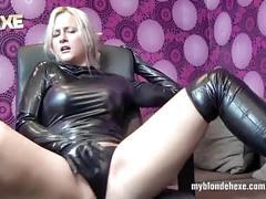 erotic, c, blonde, latex, slim, masturbation, fingering, babe