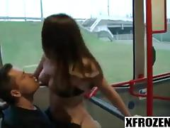 Xfrozen - all the bus passangers heard how she screamed while i was drilling her part 1
