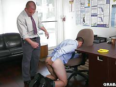 undressing, anal insertion, bareback, rimjob, ass grabbing, from behind, foursome, sex games, sex in office, grab ass