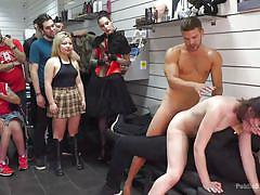 Slave is humiliated by being made to eat ass