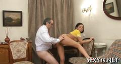 Threesome sex with teacher amateur film 2