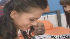 Interracial threesome sex blowjob porn 2
