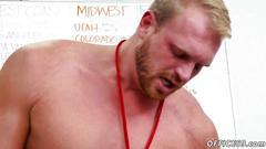 Gay porn twink boy first day at work