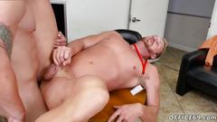 Gay porn twink boy first day at work