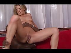 Blonde babe takes on this huge dick