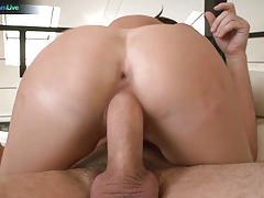 Sensual melina mason rides this hard cock