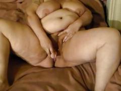 Bbw wife toying pussy