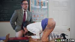 Horny schoolgirl roxxy lea bangs in the classroom