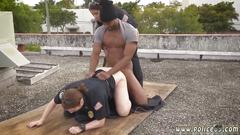 Big hairy pussy milf and curly red head milf breakin attempt suspect has to bang his way