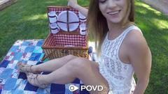 Povd sexy backyard picnic fuck with sydney cole