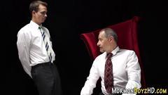 Mormon gets ass spanked handjob