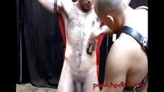 Interracial bareback threeway with kinky studs - bdsm gay porn