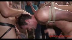 Straight stud gangbanged at convention - bdsm gay porn