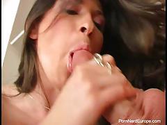 Deep ass filling for romanian brunette