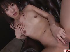 Asian amateur toys her pussy