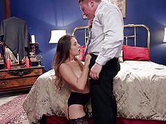 threesome, bdsm, babe, domination, blowjob, butt plug, big dick, ball sucking, sex slaves, the upper floor, kink, john strong, dahlia sky, cassidy klein