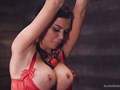 Amazing british pornstar gets her pussy drilled