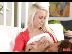 Teen and milf have a lesbian experience