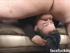Facefucking kimberly kane emo chick throat fucked hard then gets a rough assfuck