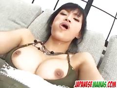 Mio kanna fucked with toys and made to scream