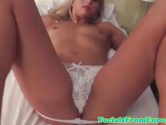Blonde facial loving slut dick sucking