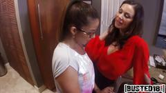 Teen isabella and step mom kendra bang long rod