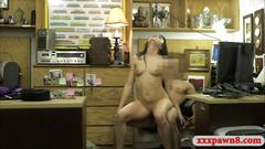 Tight woman screwed by nasty pawn dude at the pawnshop