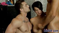 Hot orgy action with bisexual dudes