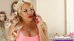 Irresistible blonde with big tits luna star seduces a plumber