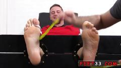 Male football player foot fetish gay kenny tickled in a straight jacket