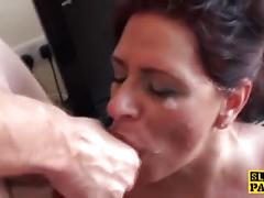 milf, f, bdsm, british, brunette, deepthroat, doggystyle, facial, orgasm, pantyhose, rimming, squirt