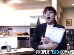 Propertysex - virgo real estate agent makes sex video with aquarius client