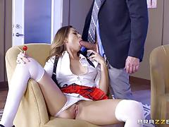 Headmaster bangs stunning melissa moore