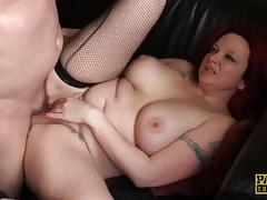Redhead gets her pussy nailed