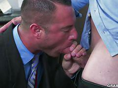 This office is filled with hot and horny guys