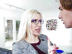 Blonde milf trapped and fucked @ blackmailed milfs