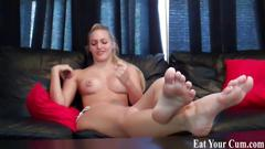 Eat your cum after i tease it out of you cei