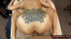Asian cutie with tiny tits banged by pervert pawn dude