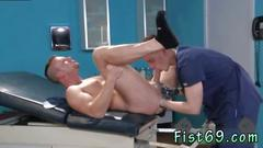 Gay cum covered hand fisting first time when the doctors assistant axel abysse comes in
