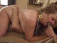 Hairy pussyhole of horny mom banged with hard cock