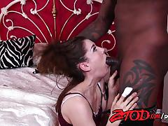 Brunette kasey warner gets fucked by bbc