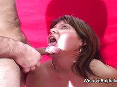 Mature british amateur taking facials