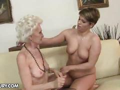 lesbian, licking, brunette, hairy, granny, oldyoung